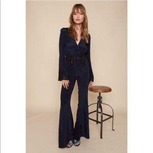 Stone Cold Fox Bella Jumpsuit in Navy Lace Size 0